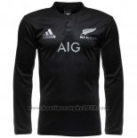 Maillot Nouvelle-Zelande All Blacks Ml Rugby 2016 Domicile
