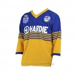 Maillot Parramatta Eels Manches Longue Rugby 1986 Retro