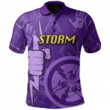 Maillot Polo Melbourne Storm Rugby 2021 Indigene
