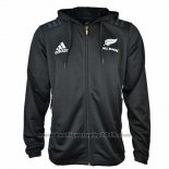 Nouvelle-Zelande All Blacks Rugby 2018-2019 Veste a Capuche01