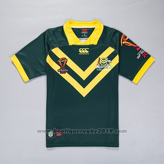 Maillot Australie Kangaroos Rugby RLWC 2017 Domicile